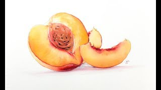 Gambar cover Peach Painting Watercolor Technique