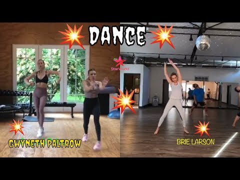 Brie Larson Vs Gwyneth Paltrow Dancing   Behind The Scene Captain Marvel N Pepper Potts
