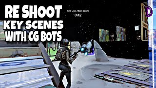 RE SHOOT KEY SCENES WITH CG BOT | RE-SHOOTS | BACK STAGE QUEST | FORTNITE SAVE THE WORLD