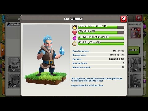 Clash Of Clans-| ICE WIZARD, USED,EXPLAINED & MY OPINIONS | HINDI |