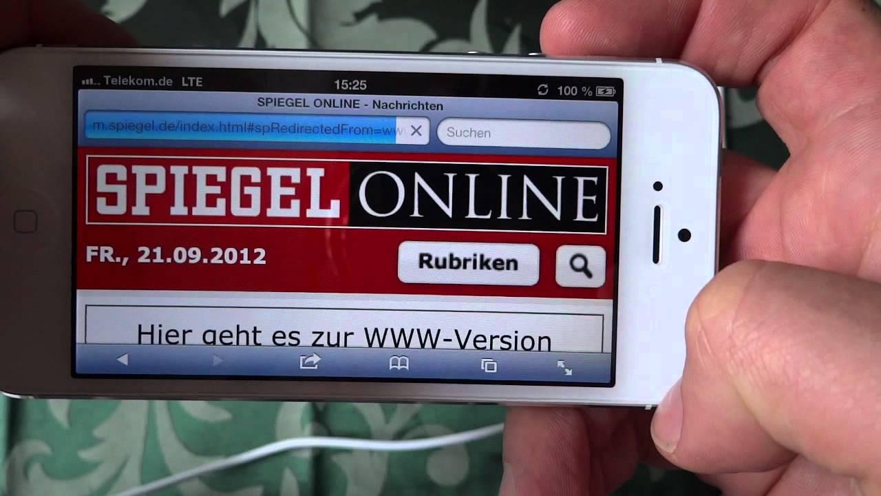 Apple Iphone 5 Lte Test Telekom T Mobile Deutschland Youtube