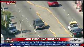 HOUR LONG PURSUIT: LAPD takes DUI suspect in custody following slow chase (FNN)