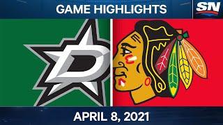 NHL Game Highlights   Stars vs. Blackhawks – Apr. 08, 2021