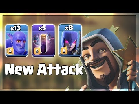 New Ground War Trend 2019! 13 Bowler 5 Bat Spell 8 Witch Destroy 3Star TH12 Base | Clash Of Clans