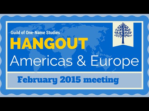 Guild North America and Europe hangout for February 2015