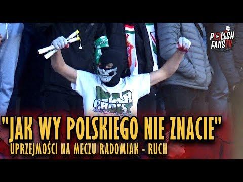 """""""JAK WY POLSKIEGO NIE ZNACIE"""" - uprzejmości na meczu Radomiak - Ruch (17.11.2018 r.)"""