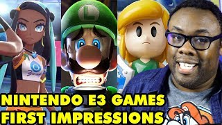 NINTENDO E3 2019 GAMES! First Impressions! Luigi's Mansion 3, Pokemon Sword & Shield, etc.