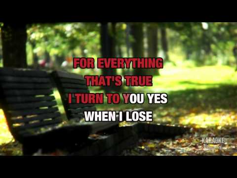 I Turn To You in the style of Christina Aguilera, karaoke  version with lyrics