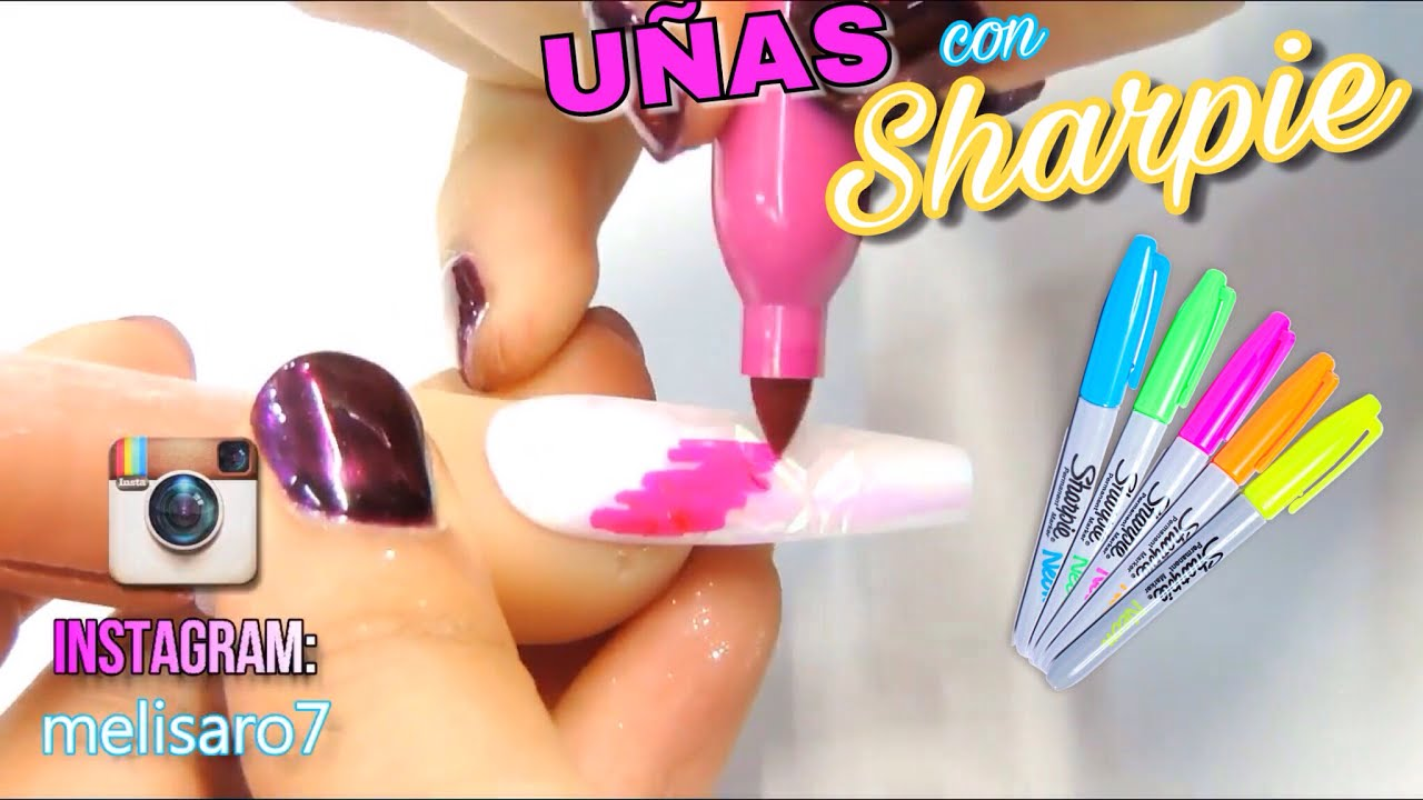 3 Ideas Para Decorar Uñas Acrilicas Con Plumones Youtube