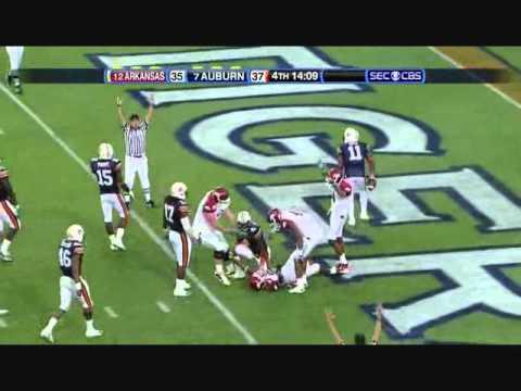 Tyler Wilson vs Auburn 2010