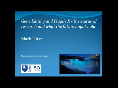 Gene Editing and Fragile X: The Status of Research and What the Future Might Hold.
