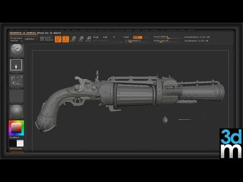 3DMotive - The Sci-Fi Pistol Workflow Vol 1 2 3