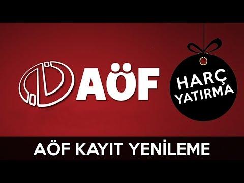 Anadolu Üniversitesi Kayıt Yenileme | Aöf Para Yatırma | Harç