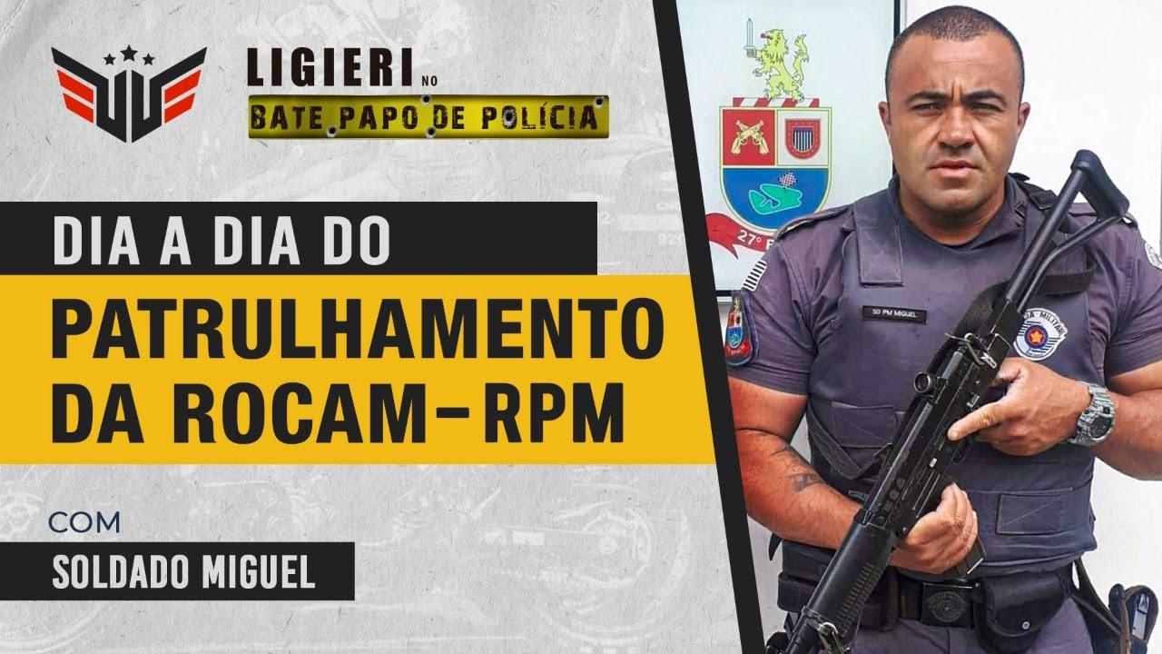 PATRULHAMENTO DA ROCAM-RPM NA POLÍCIA MILITAR SP   SOLDADO PM MIGUEL E LIGIERI