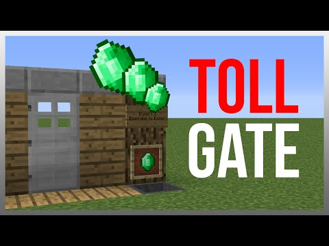 Minecraft 1.12: Redstone Tutorial - Toll Gate V2!