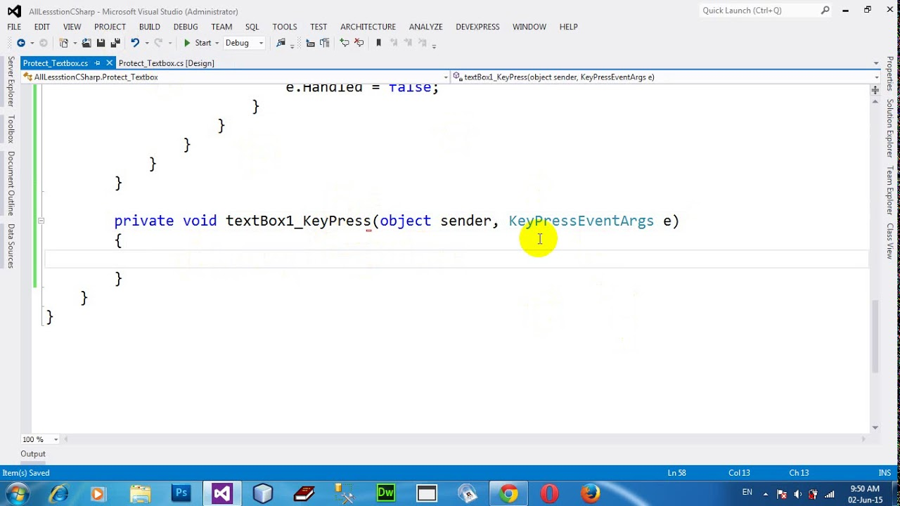 How to TextBox accept only numeric value with only one dot in C# NET 2012