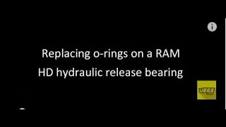 Replacing O-Rings 78505 78509 On A Ram HD Hydraulic Release Bearing 78125HD How-To Tutorial
