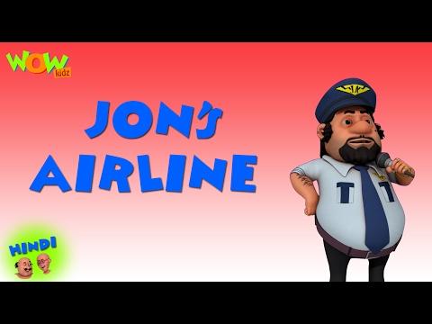 Motu Patlu Cartoons In Hindi |  Animated cartoon | John's airline | Wow Kidz