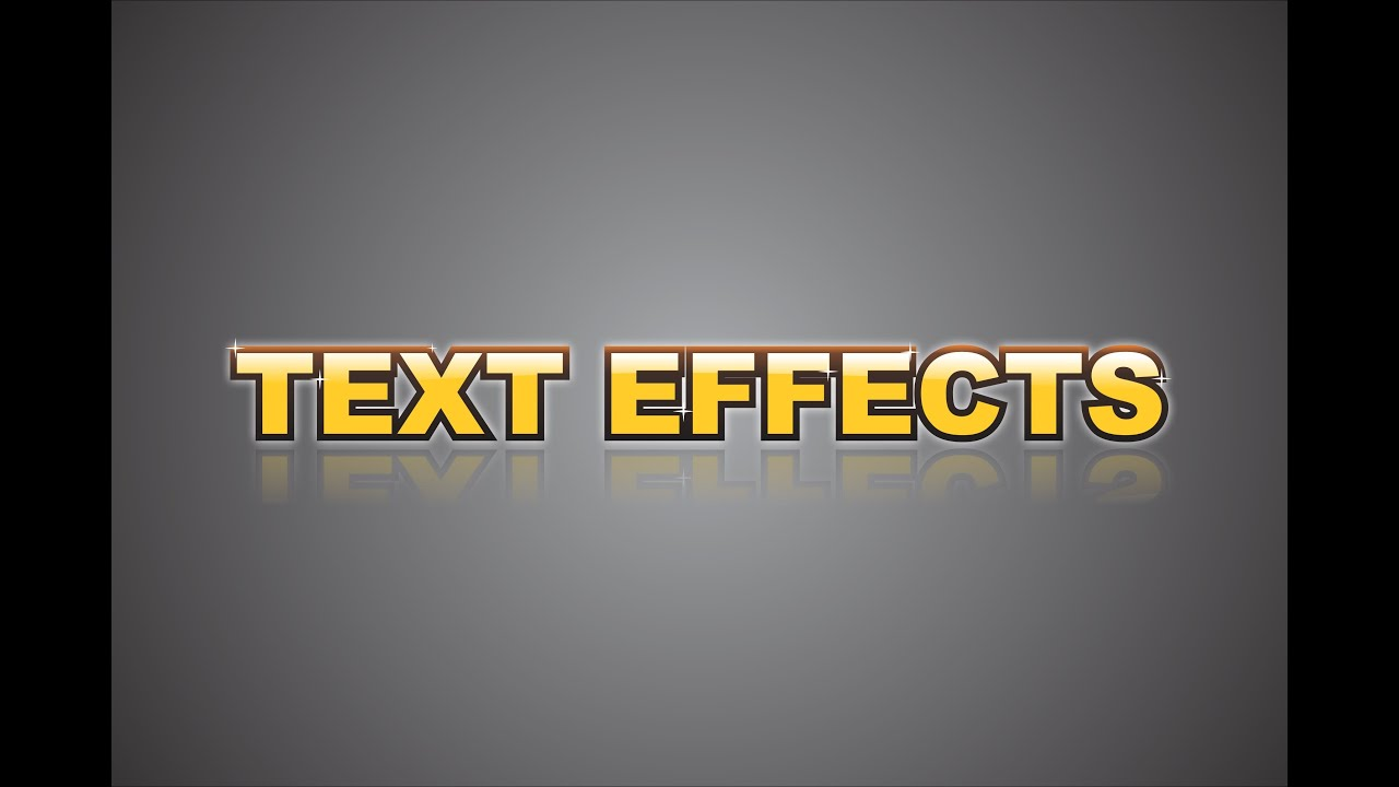 Corel Draw X6  Text Effects  How To