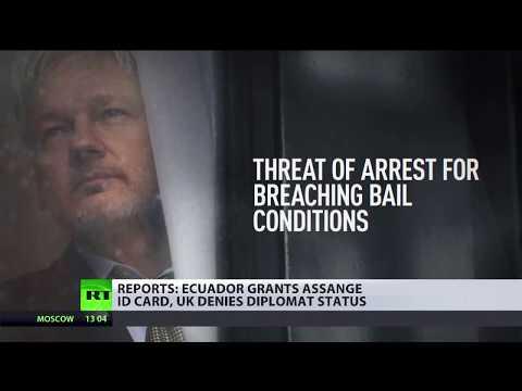 Julian Assange granted Ecuadorian ID card