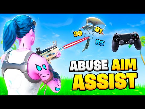 How To ABUSE Controller Aim Assist Like A PRO! (Fortnite Tips PS4 + Xbox)