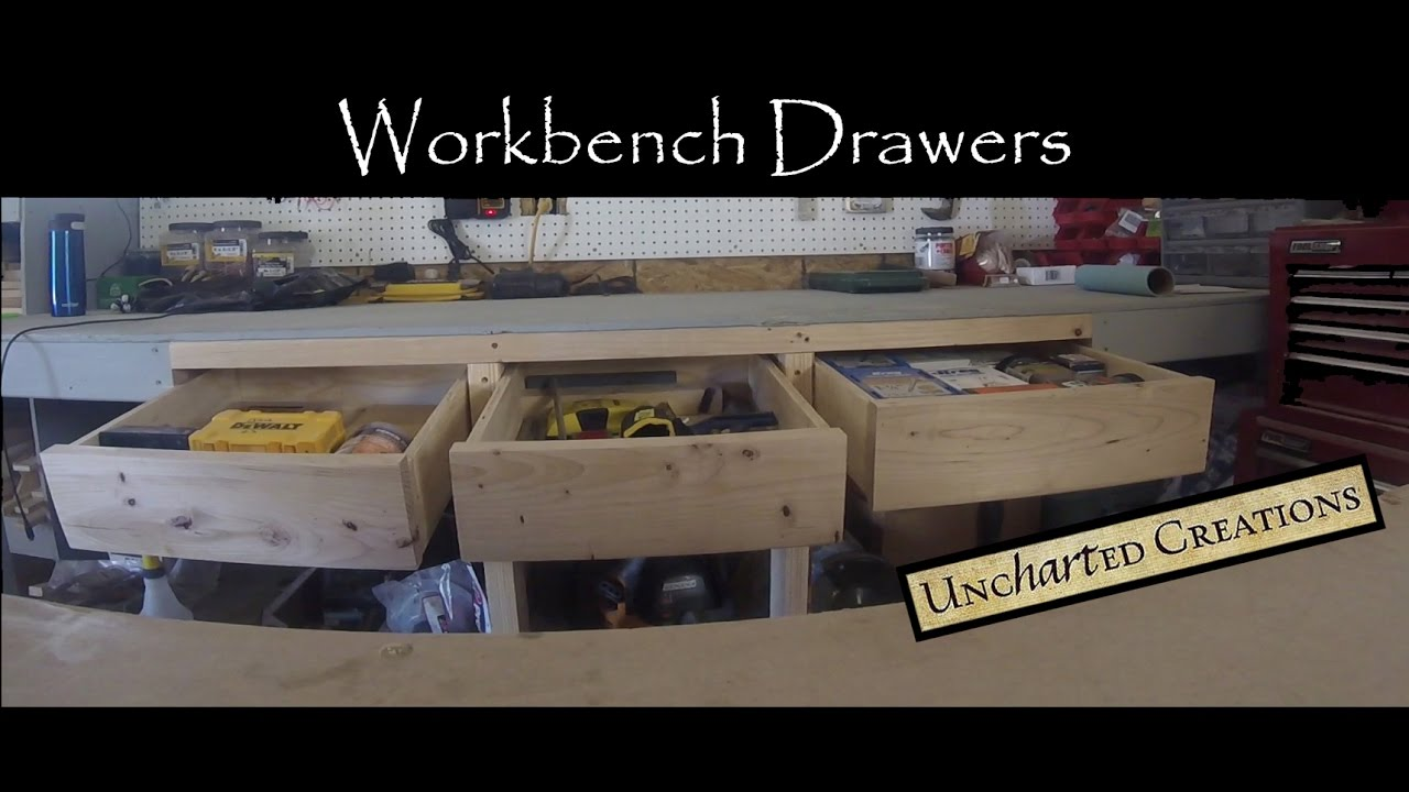 id make of large add workbench the and drawers your install to picture drawer