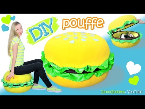 Thumbnail: How To Make A Giant Burger Storage Pouffe – DIY Giant Burger Pouf Chair - PoufBurger