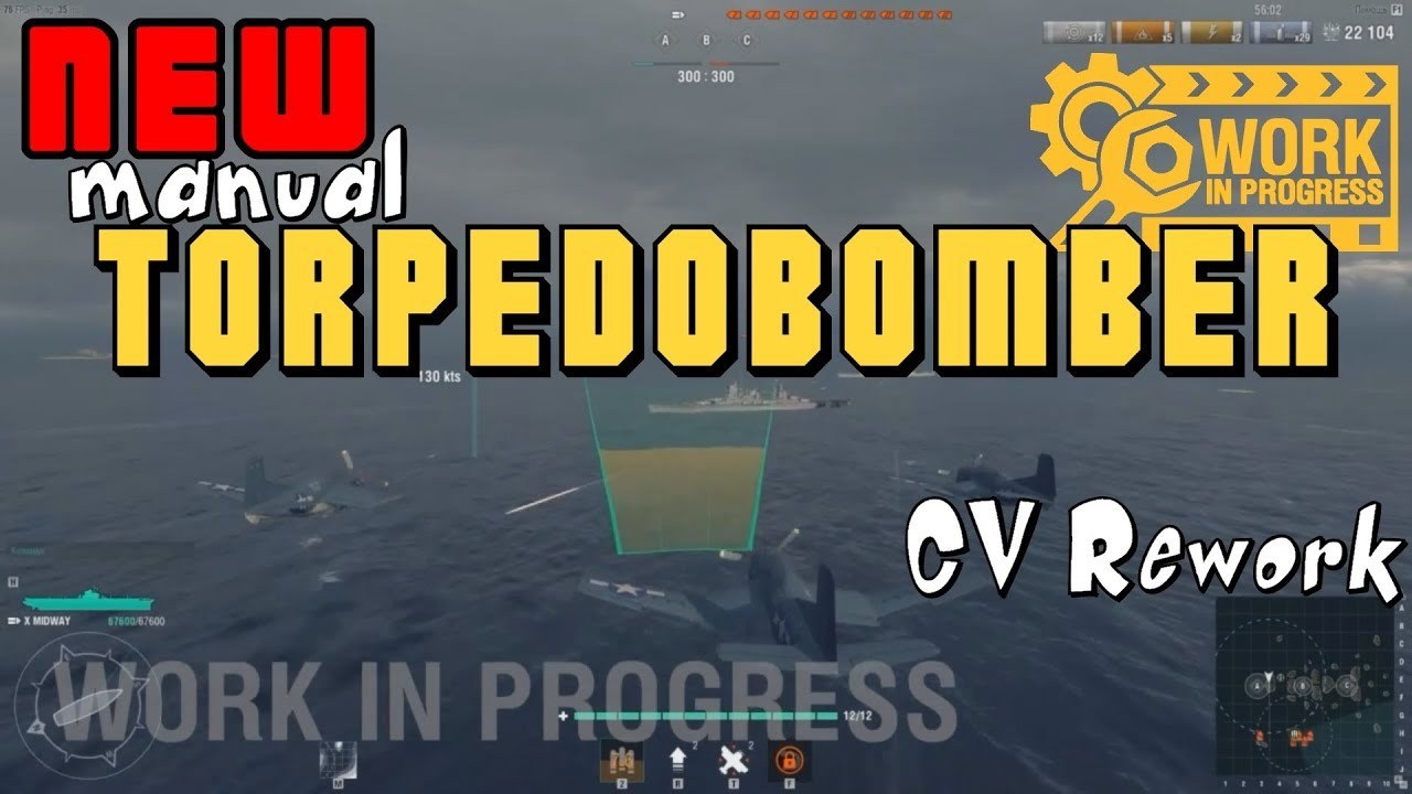 exclusive preview cv rework - torpedo bomber -