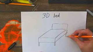Drawing a 3D bed