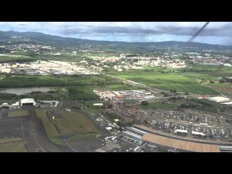 Take-off from Martinique Aimé Césaire International Airport Fort-de-France