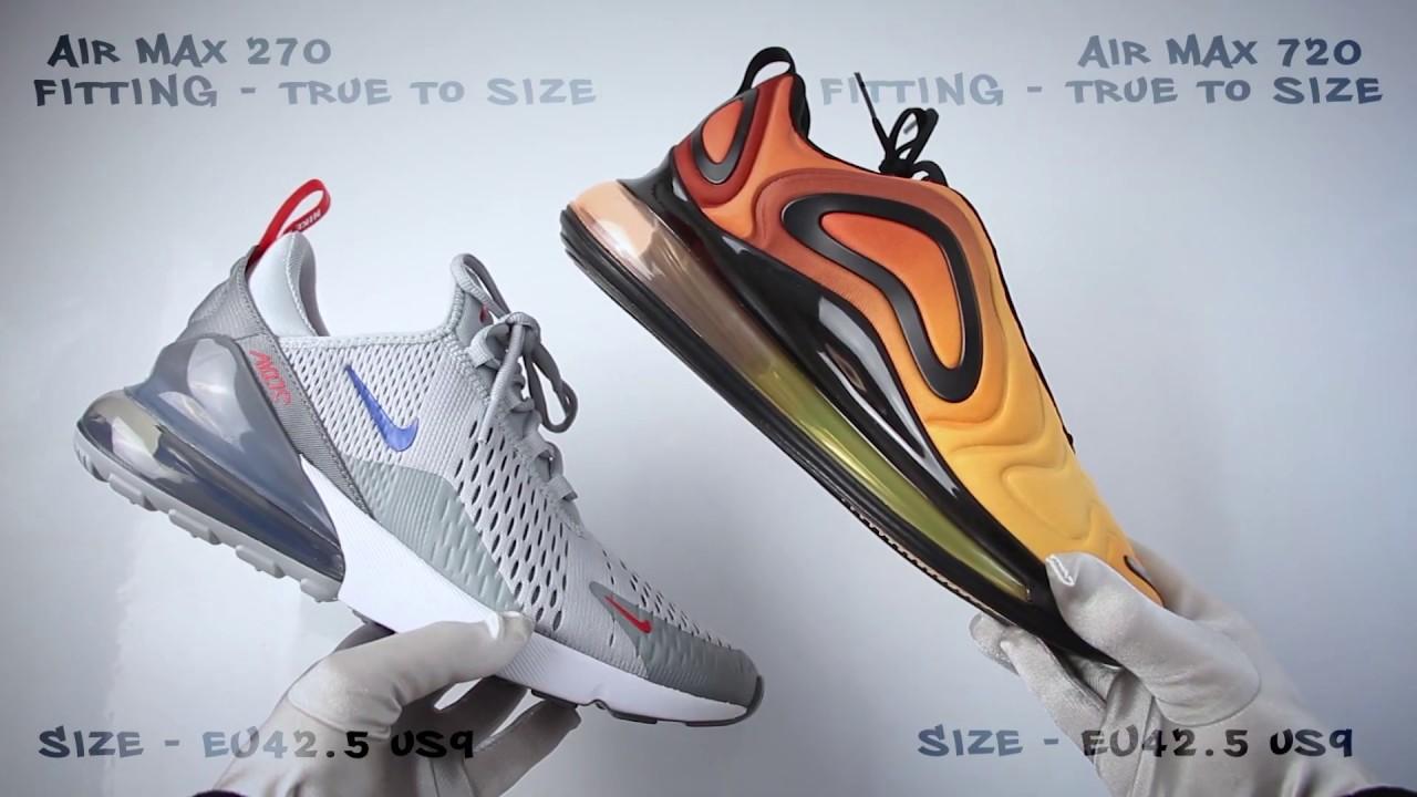 Nike Air Max 720 vs Air Max 270 (review) ON FEET COMPARISON