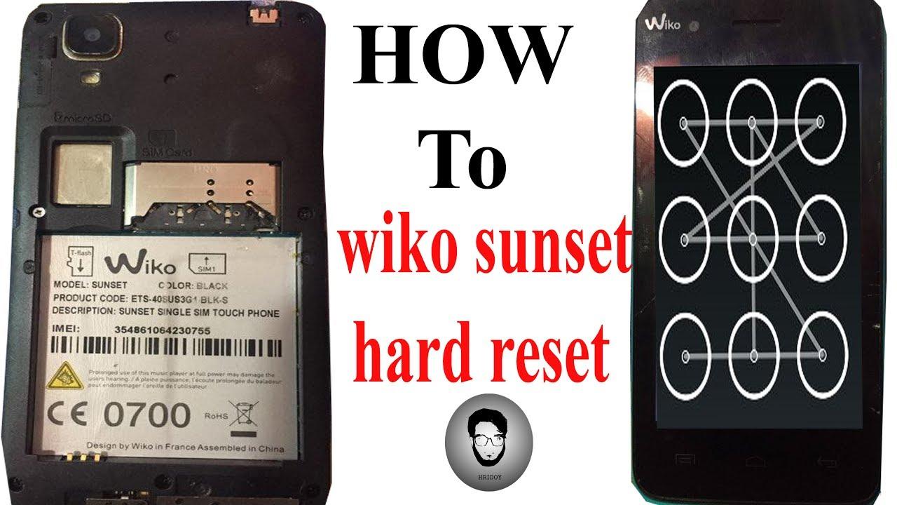 Wiko: Factory Reset / Pattern Reset/ Pin Unlock/ Password  Reset/Werkseinstellungen (Recovery) 2017