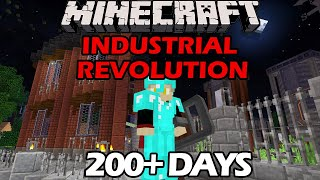I Survived 200+ Days in the Industrial Revolution in Minecraft - Begun, the Pizza Factory Has!