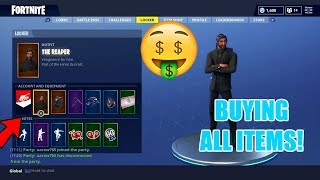 BUYING ALL NEW SEASON 3 FORTNITE ITEMS!! NEW ITEM SHOWCASE! - THE REAPER TRUSTY NO.2 AXE & MORE!!