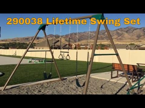 Lifetime 290038 Earthtone 3-Swing A-Frame Swing Set