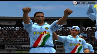 EA Cricket 2005 Ind vs SA Knock Out Cup Quater Final SA all out for 9