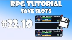 #22.10 Unity RPG Tutorial - Save slots