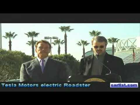 Martin Eberhard, CEO, Tesla Motors unveiling the electric Tesla Roadster