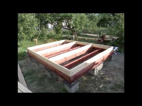 Летний микро-домик на даче.  Часть 1.   Начало - 2016