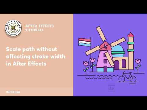 After Effects Tutorial - Scale Path and Maintain Stroke Width