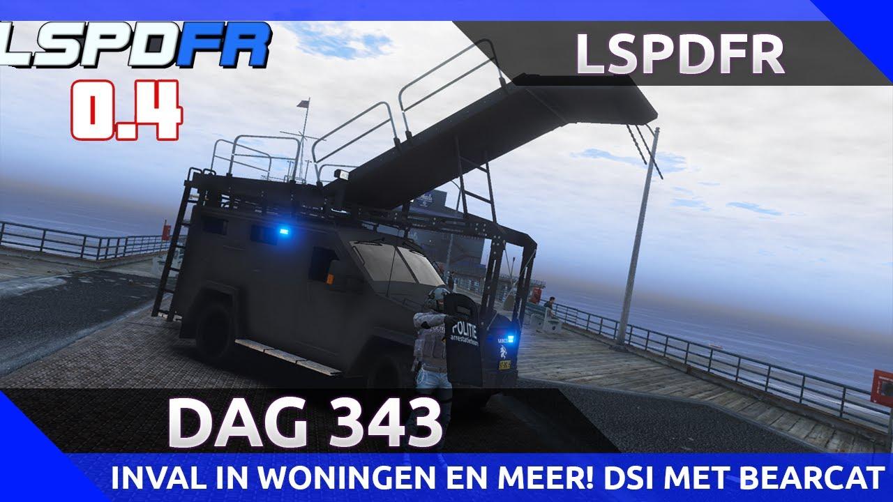 GTA 5 lspdfr dag 343 - Dienst met de bearcat en schild van de DSI! Invallen en meer!