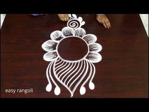 creative easy free hand kolam rangoli designs * latest simple small muggulu * daily rangavalli