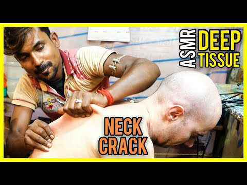 ASMR DEEP TISSUE with HEAD MASSAGE and NECK CRACK - ASMR NO TALKING