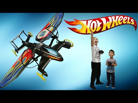 Hot Wheels RC Sky Shock Transforming Remote Control Flying Race Vehicle Unboxing Park Test Flight