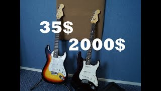 Сравнение ДОРОГОЙ и ДЕШЕВОЙ гитары. Обмен звукоснимателями.