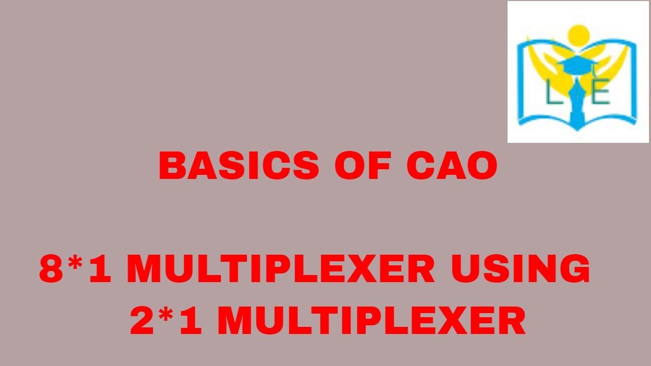 medium resolution of implementation of 8 1 mux using 2 1 mux