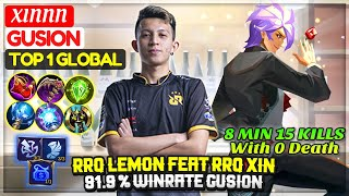 Download RRQ LEMON FEAT RRQ XIN, 91.9 % WINRATE GUSION | Top 1 Global Gusion | XINNN - Mobile Legends