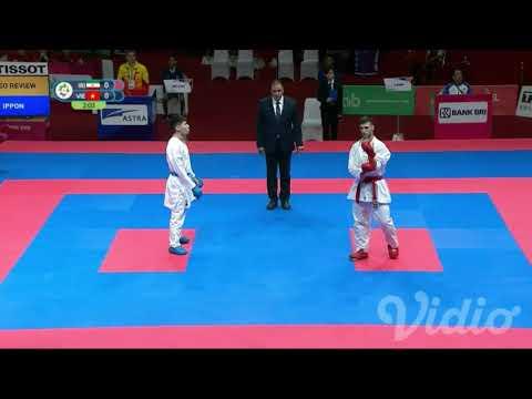 Asiangames2018 karate kumite-60kg Amir Mahdizadeh aka (IRI) vs vietnam (AO) by Vidio.com