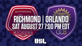 WATCH LIVE: Richmond Kickers vs Orlando City B 8-27-16
