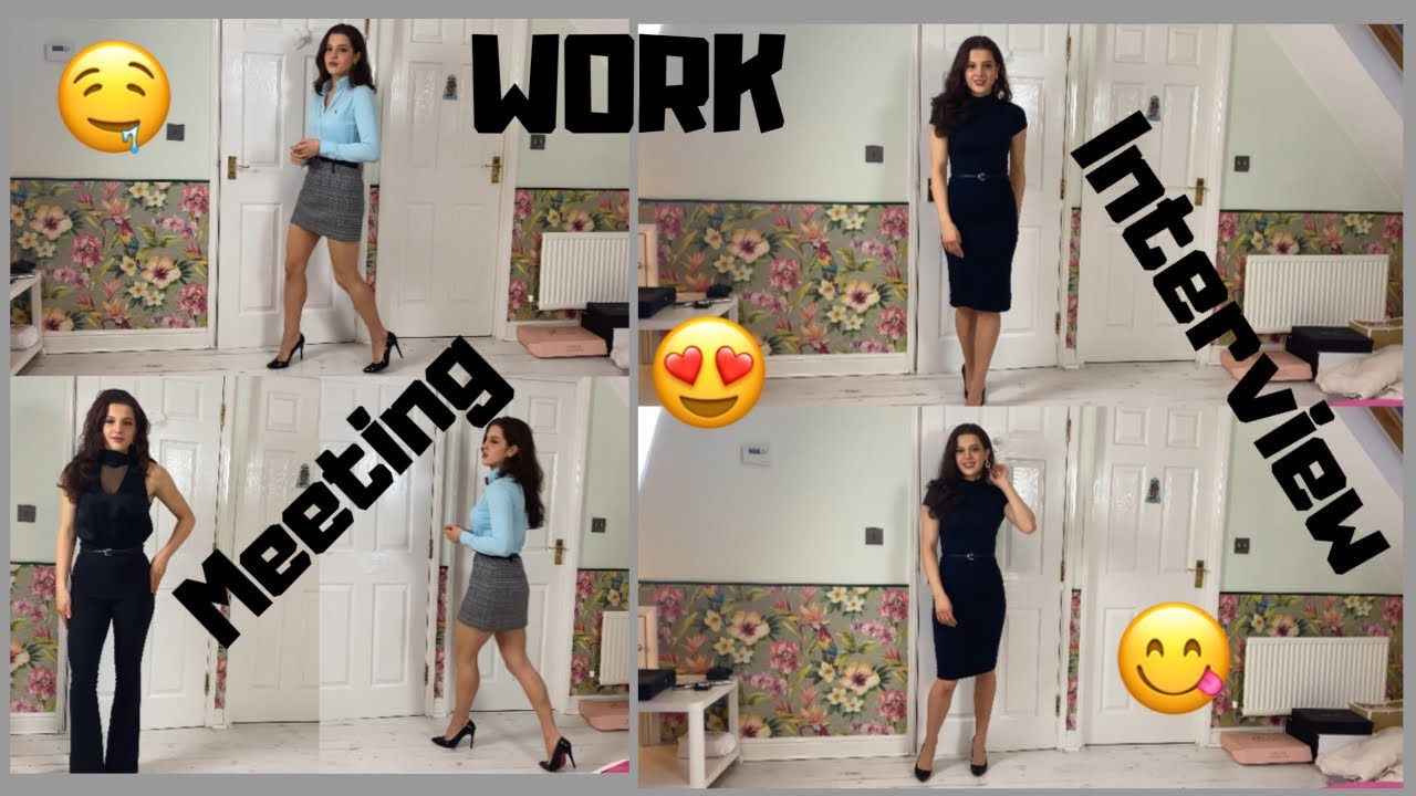 HOW TO LOOK STYLISH FOR WORK, A JOB INTERVIEW OR MEETING! 5 FAVOURITE WORK OUTFITS EMILY MONKS